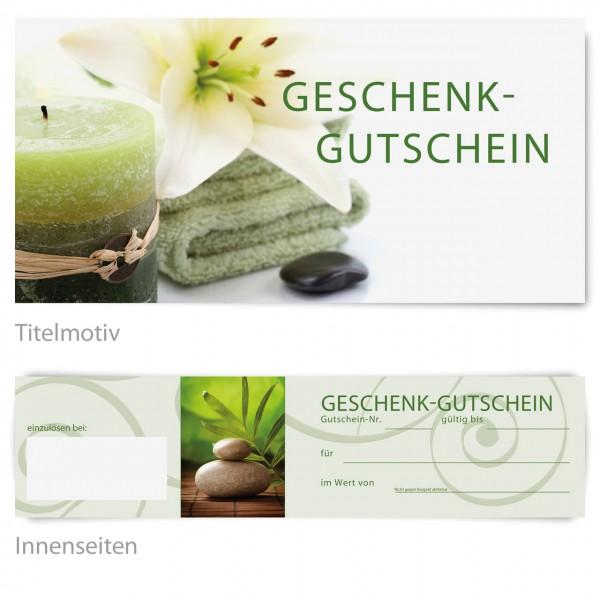 "Gutschein - Motiv ""Wellness green"""